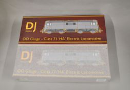 OO Gauge. 2 boxed DJ Models Locomotives, 0071-097 Class 71 Electric E5002 BR Green Weathered (KMRC