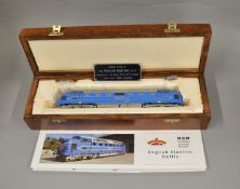 OO Gauge. A Bachmann Deltic model housed in a 'National Railways Museum' wooden, satin lined box
