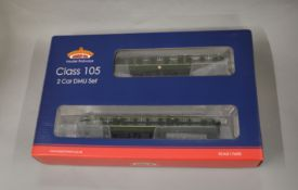 OO Gauge. A boxed Bachmann 31-326A Class 105 2 car DMU BR green with Speed Whiskers (DCC), VG