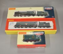 OO Gauge. 3 boxed Hornby Locomotives, R2903XS BR 0-6-0 Diesel Electric Shunter Class 08 'D3105' (