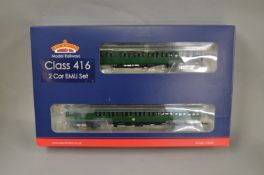 OO Gauge. A boxed Bachmann 31-376Z 2EPB EMU 5759 Late SR Multiple Unit green, produced exclusively
