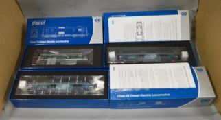 OO Gauge. 3 boxed Dapol Diesel Electric Locomotives, Class 73 E6003 SR Green and two Class 68