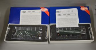 OO Gauge. 2 boxed Heljan Diesel Locomotives, 15041 D8201 BR plain green-glossy finish and 1503 D8223