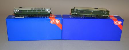 OO Gauge. 2 boxed Heljan Diesel Locomotives, 33611 D6583 KMRC Limited Edition  (Class 33/0) and 2300