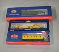 OO Gauge. 3 boxed Bachmann models, 31-266 Motor Luggage Van (DCC), 36-165 Plasser Tamper Machine (