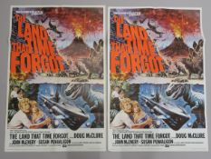 The Land that Time Forgot Original British double-crown film poster with art by Tom Chantrell