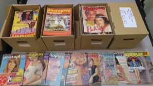 Photoplay film monthly magazines from 1960 (1), 1961 (1), 1966 (2), 67 (8), January 1968 thru