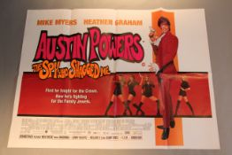 23 British Quad film posters titles include Austin Powers the Spy who Shagged Me, American Pie,