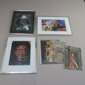 Star Wars signed limited edition prints including Dave Prowse as Darth Vader, artwork by D.