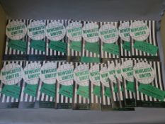 Newcastle united home and away football programmes from season 1967 - 1968 including West Ham,