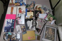 Kylie Minogue lot including UK tour 1991 pink book, Kylie fashion hard back book (2 versions), LA LA