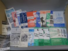 Newcastle United football programmes from 1961, 1964, 1965, 1966, 1967, 1968, 1969, including
