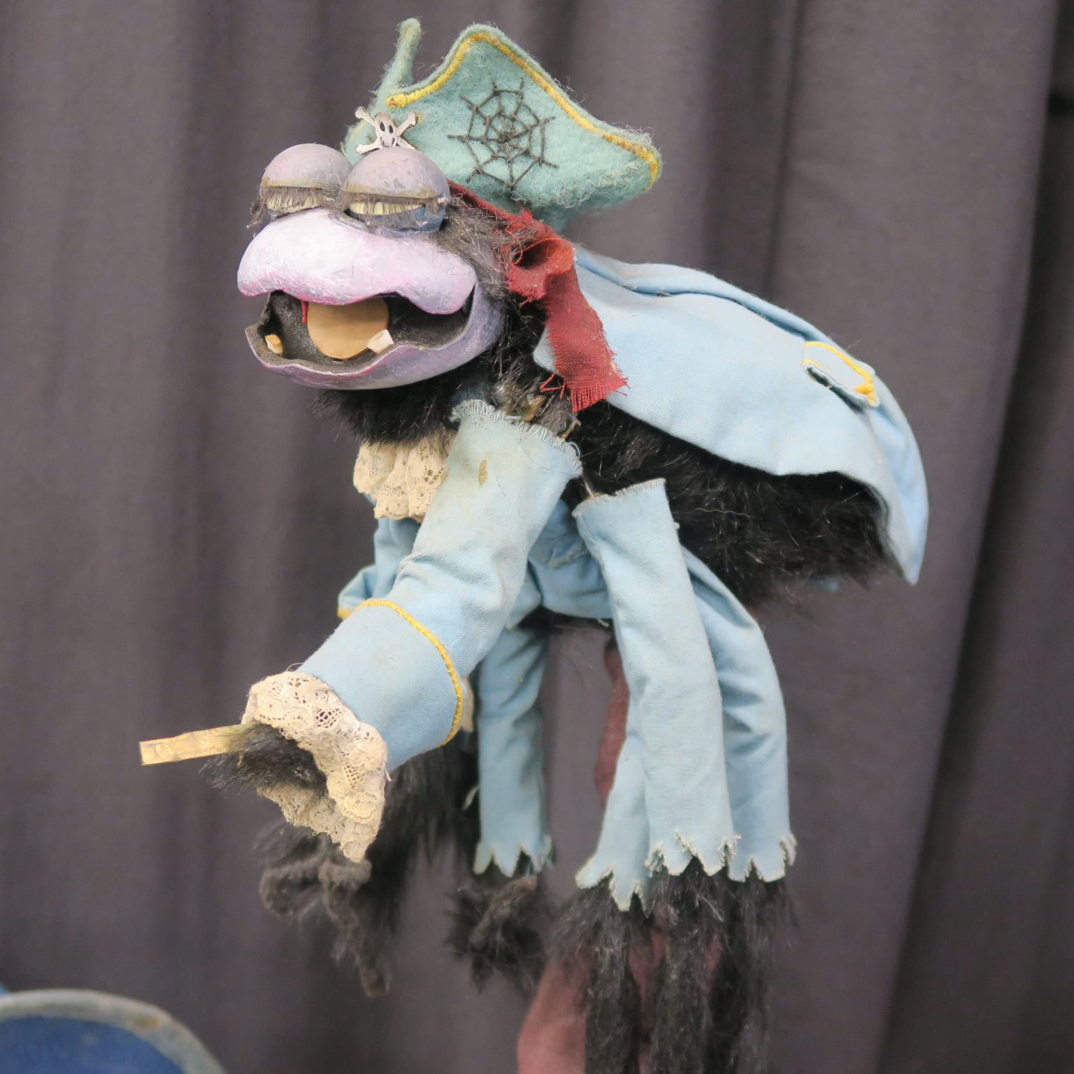 Lot 177 - Captain Abercromby BBC Television original screen used puppets for the childrens TV show created