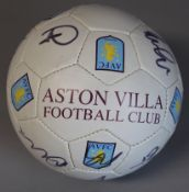 Aston Villa signed football from 2012 Premier League season with 13 signatures including Marc