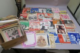 Vintage sheet music large collection, nearly all original first scores including Elvis Presley (