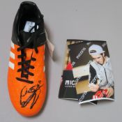 Gareth Bale Adidas signed football boot, signed in black felt pen, size 5 1/2 with COA (1)