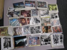 "Box of cinema lobby cards and stills measuring 10""x8"", most sets include 8 cards, titles inc."