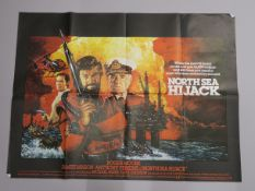 "A collection of 16 original British Quad film posters, all measuring 30""x40"" titles including ,"