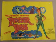 "A collection of original British Quad film posters, all measuring 30""x40"", Disney and family"