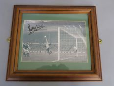Peter Shilton signed photo in frame with COA to reverse, signed by Peter Shilton in June 2007 in