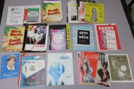 Quantity of Theatre programmes (58), titles inc. Oliver, Peter Pan, Guys and Dolls, Annie Get Your