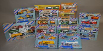 14 Matchbox models and sets from various ranges, all in window box packaging, including 'Convoy', '