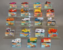 19 Matchbox 1-75 series models from the Superfast range in card box packaging. (19) [NO  RESERVE]