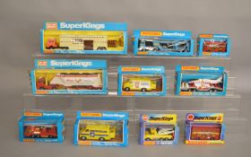 10 Matchbox models from the 'SuperKings' range, all in various styles of  window box packaging,