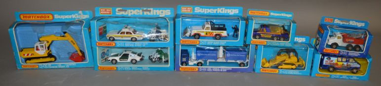 9 Matchbox models from the 'SuperKings' range, all in window box packaging, including K-41 JCB