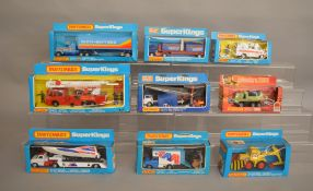 8 Matchbox models from the 'SuperKings' range, all in window box packaging, including K-39 Snorkel