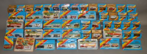 28 Matchbox models from their 1-75 Series 'Superfast' range, mostly in blue window box packaging