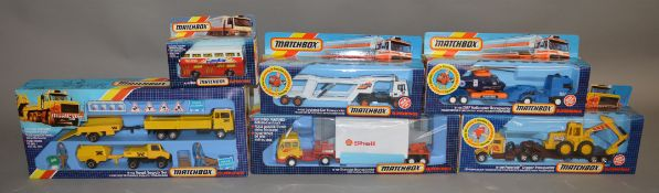6 Matchbox models from the 'SuperKings' range, all in window box packaging, including K-15 Bus in '
