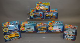 10 Matchbox models from the 'SuperKings' range, all in window box packaging, including K-140 Leyland