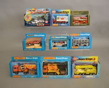 9 Matchbox models from the 'SuperKings' range, all in window box packaging, including K-12