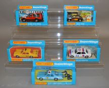 5 Matchbox  models from the 'SuperKings' range, all in window box packaging, including K- 78, 79,