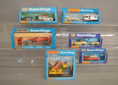 6 Matchbox models from the 'SuperKings' range, all in window box packaging, including K-76 Volvo
