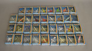 35 Matchbox models from the 'Skybusters' range, all in window box packaging, including SB-16 Corsair