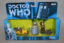 12 Doctor Who diecast sets by Corgi, contained in 4 trade boxes (12).  [NO  RESERVE]