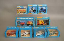 9 Matchbox models from the 'SuperKings' range, all in window box packaging, including K-30 Unimog