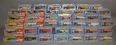 33 Matchbox models from their 'Convoy' range in window box packaging together with 8 boxed Convoy '