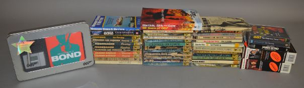 A quantity of vintage Ian Fleming James Bond novels, including many published by Pan Books, together