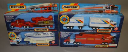 4 Matchbox models from the 'SuperKings' range, all in window box packaging, including K-112 Fire