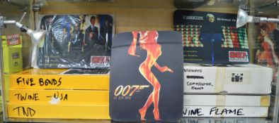 17 James Bond 007 mouse mats with various designs.  [NO  RESERVE]