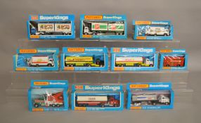 10 Matchbox models from the 'SuperKings' range, all in window box packaging, including two  K-19