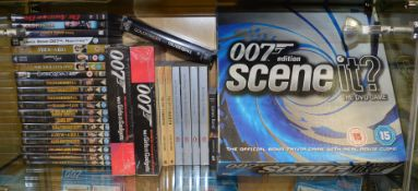 A mixed lot of James Bond 007 related items, including; DVD's, books, Scene It? game etc.  [NO