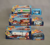 6 Matchbox models from the 'SuperKings' range, in various styles of window box packaging,