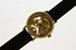A gents Stuhrling mechanical skeleton wristwatch, st-93202, excellent overall condition (as new),