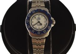 TAG HEUER - A ladies F1 Tag Heuer stainless steel quartz wristwatch, model WA1419, circa early 90's,