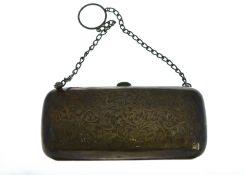 A silver purse H/M Birmingham 1912, approx 100gms