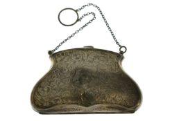 A silver purse H/M Birmingham 1916, approx 82gms